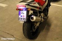 Kleines Motorrad Kennzeichen mit 18cm Breite