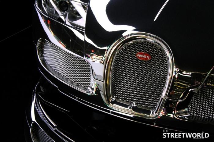 chrome Bugatti Veyron Grill