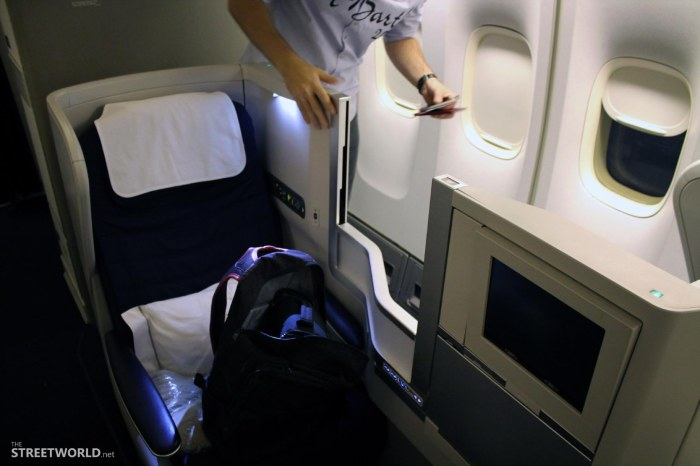 British Airways Business Class Seats
