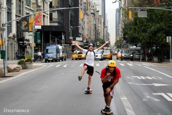 Longboarding New York Streets