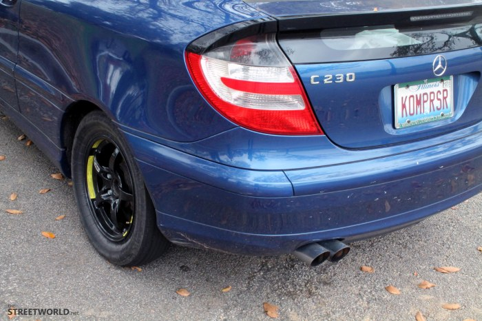 Mercedes C230 Remus Exhaust