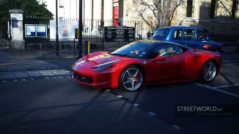 Awesome Ferrari 458 in London Wallpaper HD 1920 1200