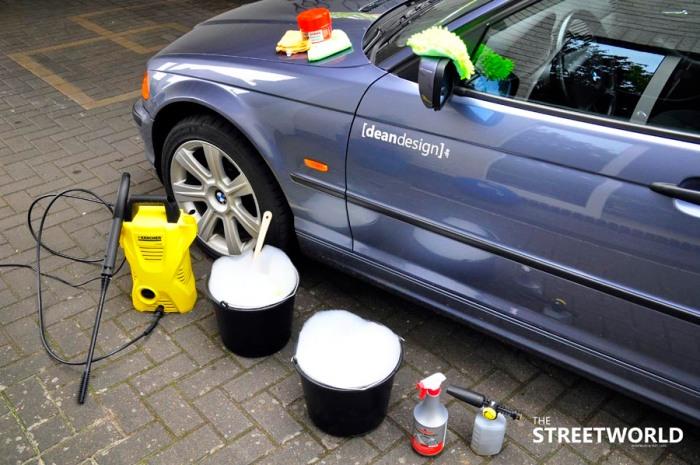 1 Auto richtig waschen Utensilien