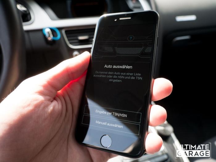 Einrichtung Fahrzeugendaten App